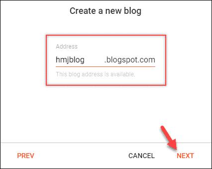 blogger blog address