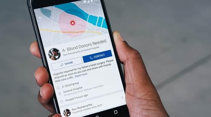Facebook Blood Donation News