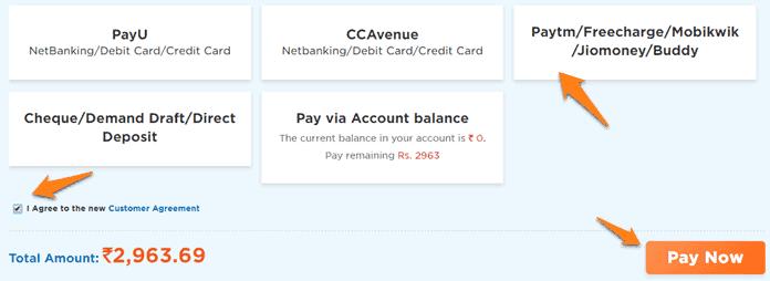 hostgator payment method hindi